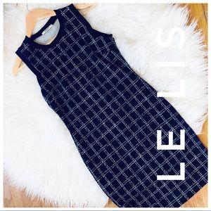 LE LIS blk + wht Dress